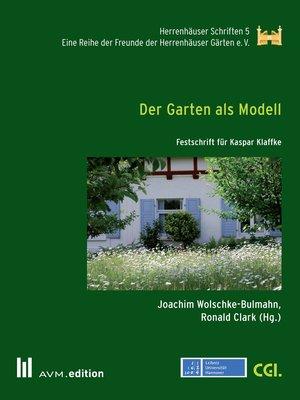 cover image of Der Garten als Modell