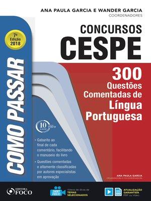 cover image of língua portuguesa: 300 questões comentadas de língua portuguesa
