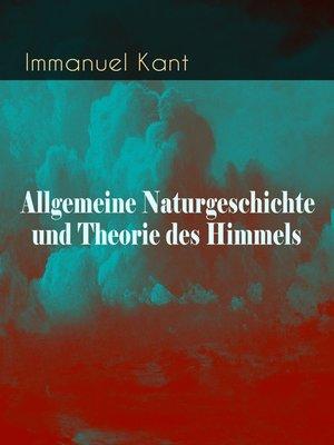 cover image of Allgemeine Naturgeschichte und Theorie des Himmels