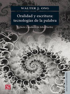 cover image of Oralidad y escritura