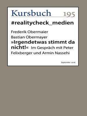 """cover image of """"Irgendetwas stimmt da nicht!"""""""