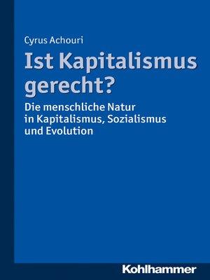 cover image of Ist Kapitalismus gerecht?