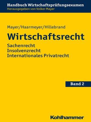cover image of Wirtschaftsrecht