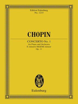 cover image of Piano Concerto No. 1 E minor