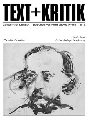 cover image of TEXT + KRITIK Sonderband--Theodor Fontane