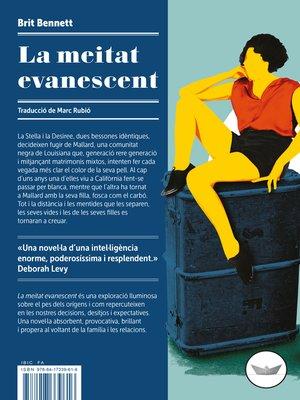 cover image of La meitat evanescent