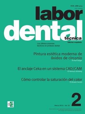 cover image of Labor Dental Técnica Volume22 Mar. 2019 nº2