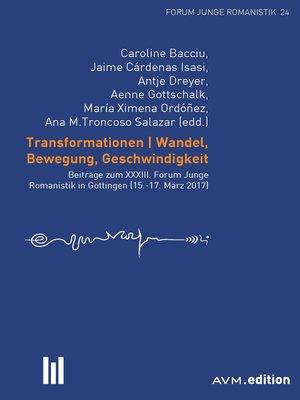 cover image of Transformationen. Wandel, Bewegung, Geschwindigkeit