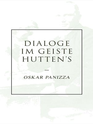 cover image of Dialoge im Geiste Hutten's
