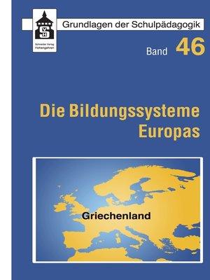 cover image of Die Bildungssysteme Europas--Griechenland