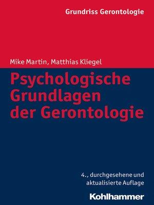 cover image of Psychologische Grundlagen der Gerontologie