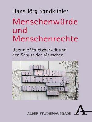 cover image of Menschenwürde und Menschenrechte