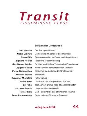 cover image of Transit 44. Europäische Revue