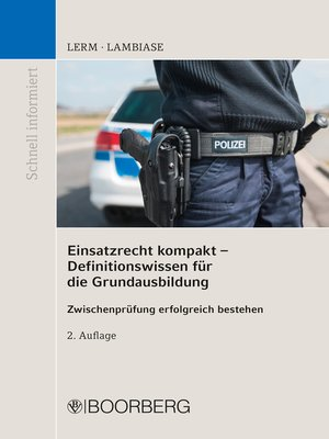 cover image of Einsatzrecht kompakt--Definitionswissen für die Grundausbildung