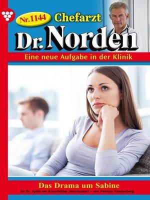 cover image of Chefarzt Dr. Norden 1144 – Arztroman