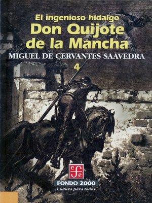 cover image of El ingenioso hidalgo don Quijote de la Mancha, 4
