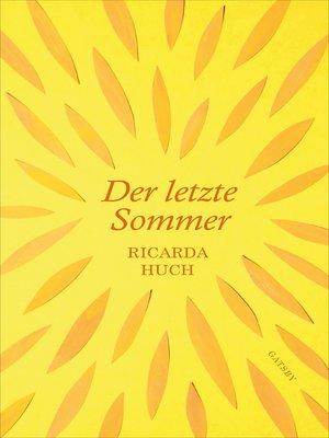 cover image of Der letzte Sommer