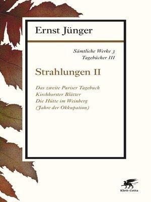 cover image of Sämtliche Werke--Band 3