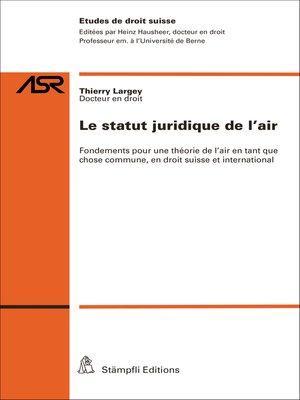 cover image of Le statut juridique de l'air