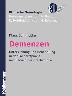 cover image of Demenzen