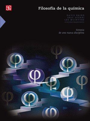 cover image of Filosofía de la química