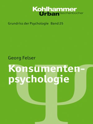 cover image of Konsumentenpsychologie