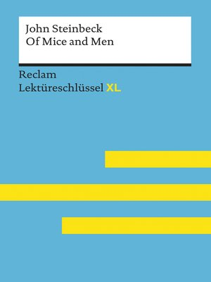 cover image of Of Mice and Men von John Steinbeck