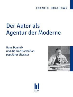 cover image of Der Autor als Agentur der Moderne