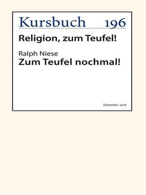 cover image of Zum Teufel nochmal!