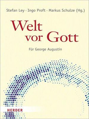 cover image of Welt vor Gott