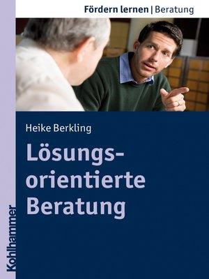 cover image of Lösungsorientierte Beratung