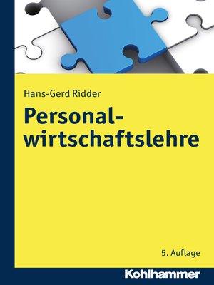 cover image of Personalwirtschaftslehre