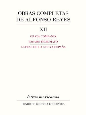 cover image of Obras completas, XII