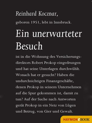 cover image of Ein unerwarteter Besuch