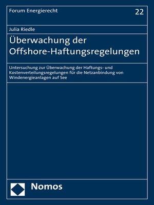 cover image of Überwachung der Offshore-Haftungsregelungen