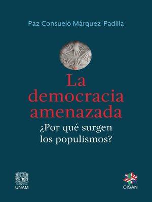 cover image of La democracia amenazada