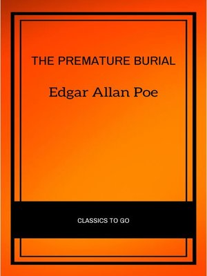cover image of The Premature Burial