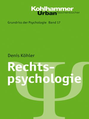 cover image of Rechtspsychologie