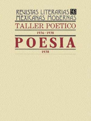 cover image of Taller poético, 1936-1938. Poesía, 1938