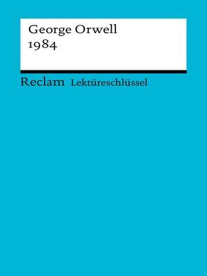 cover image of Lektüreschlüssel. George Orwell