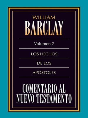 cover image of Comentario al Nuevo Testamento Volume 7