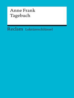cover image of Lektüreschlüssel. Anne Frank