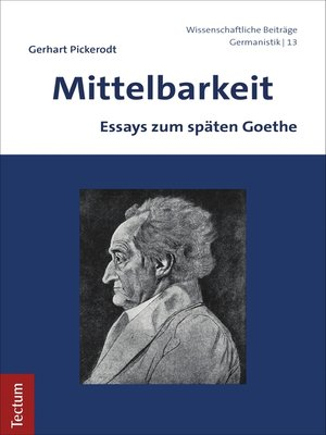 cover image of Mittelbarkeit