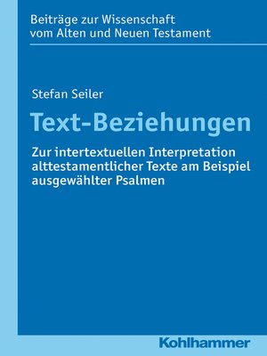 cover image of Text-Beziehungen