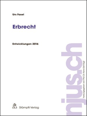 cover image of Erbrecht