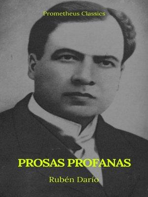 cover image of Prosas profanas (Prometheus Classics)