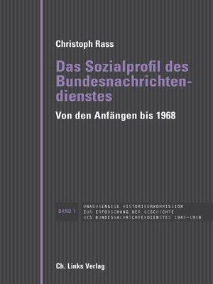 cover image of Das Sozialprofil des Bundesnachrichtendienstes