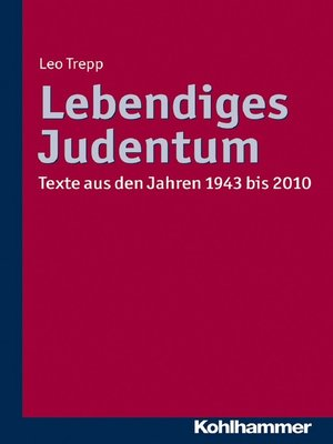 cover image of Lebendiges Judentum