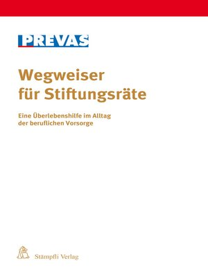 cover image of Wegweiser für Stiftungsräte
