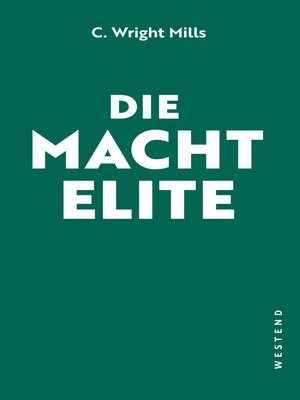 cover image of Die Machtelite